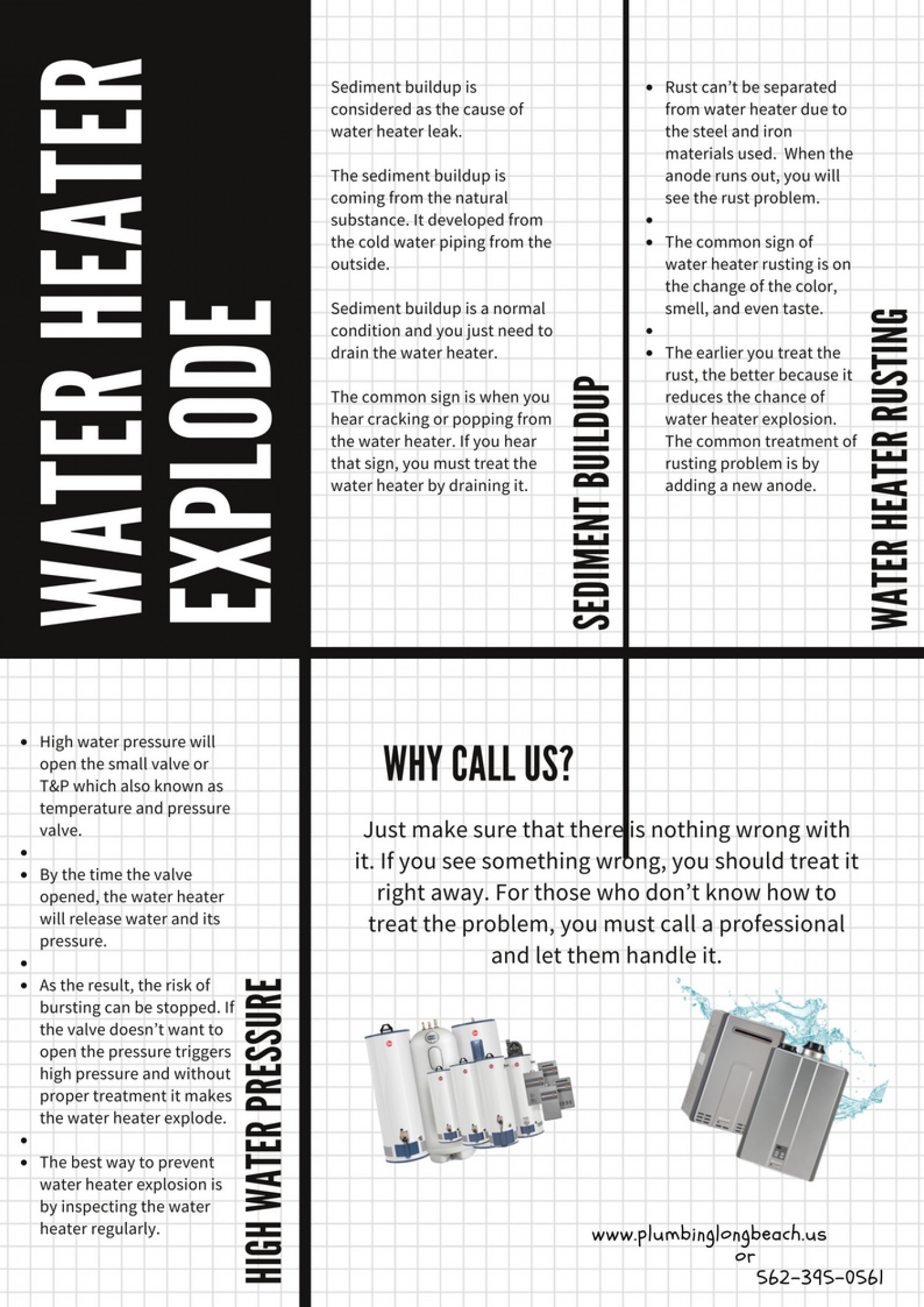 Water Heater Explode Infographic