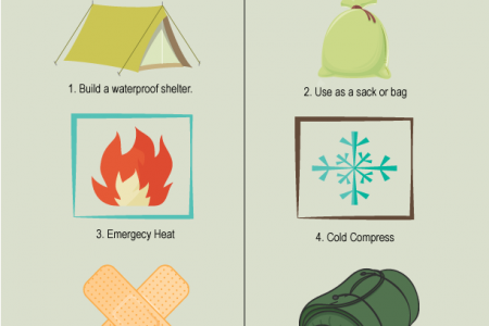 Ways on How to use Poncho for Survival Infographic