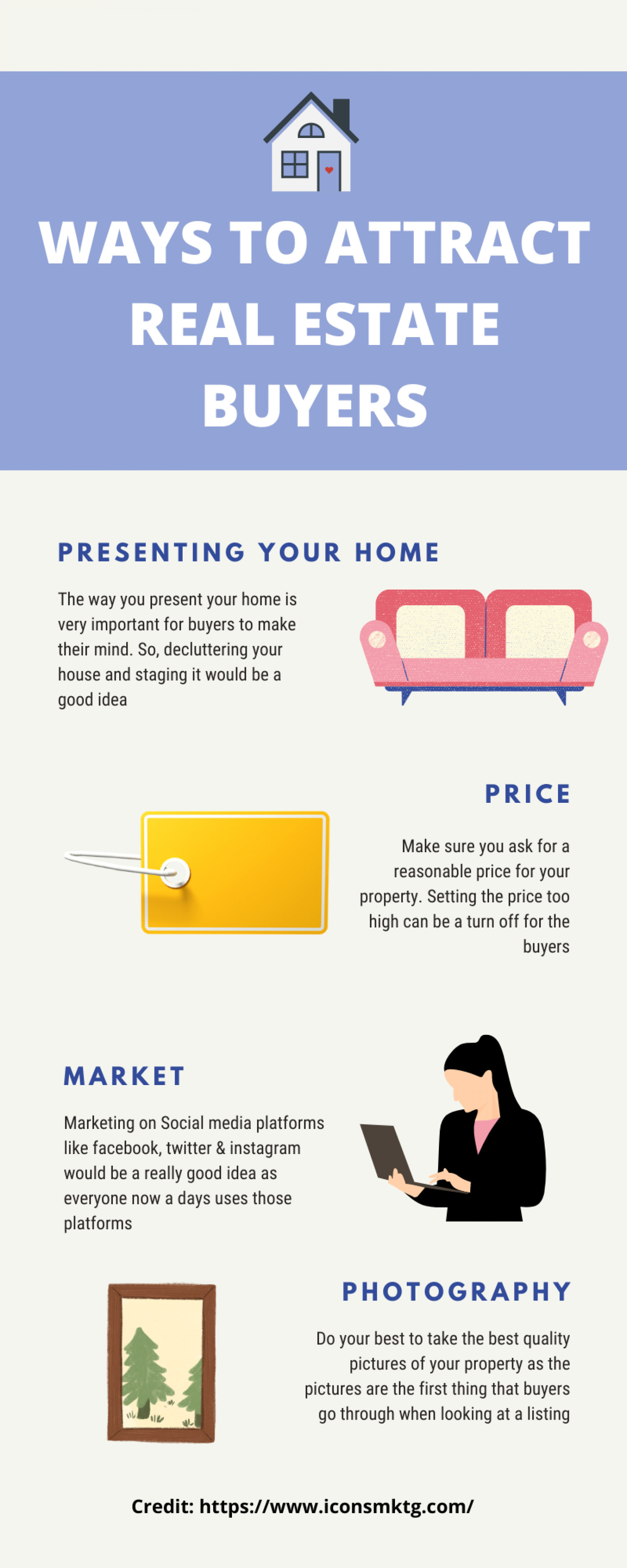 Ways to attract real estate buyers Infographic