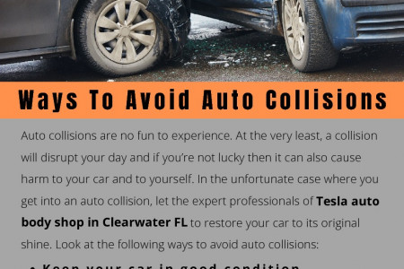 Ways To Avoid Auto Collisions Infographic
