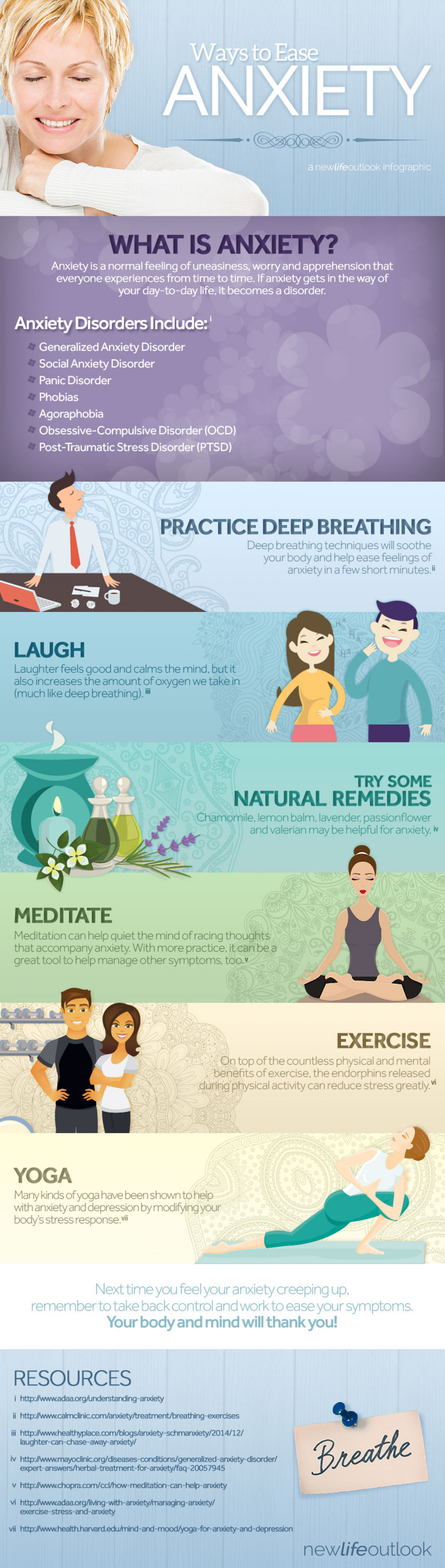 Ways to Ease Anxiety Infographic
