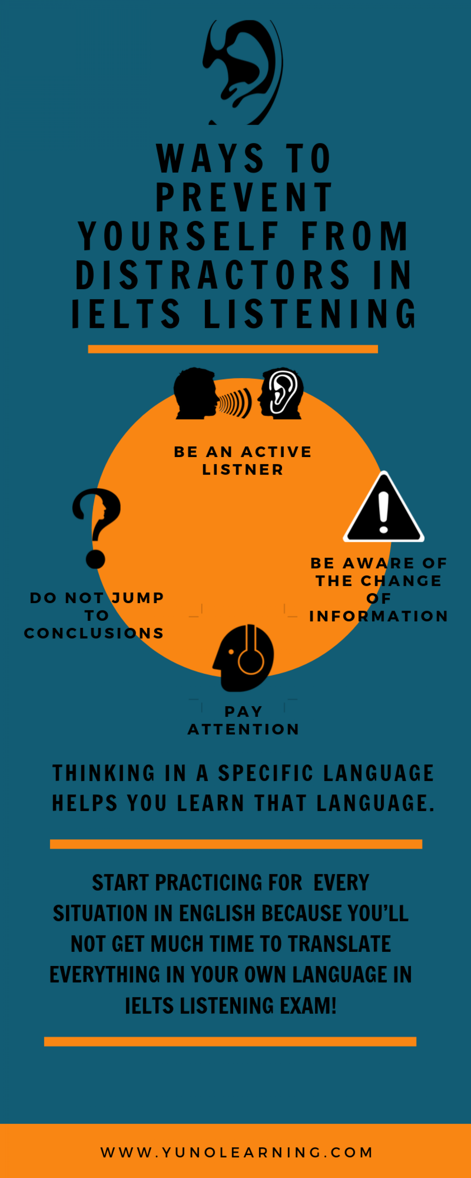 Ways To Prevent Yourself From Distractors In IELTS Listening Infographic