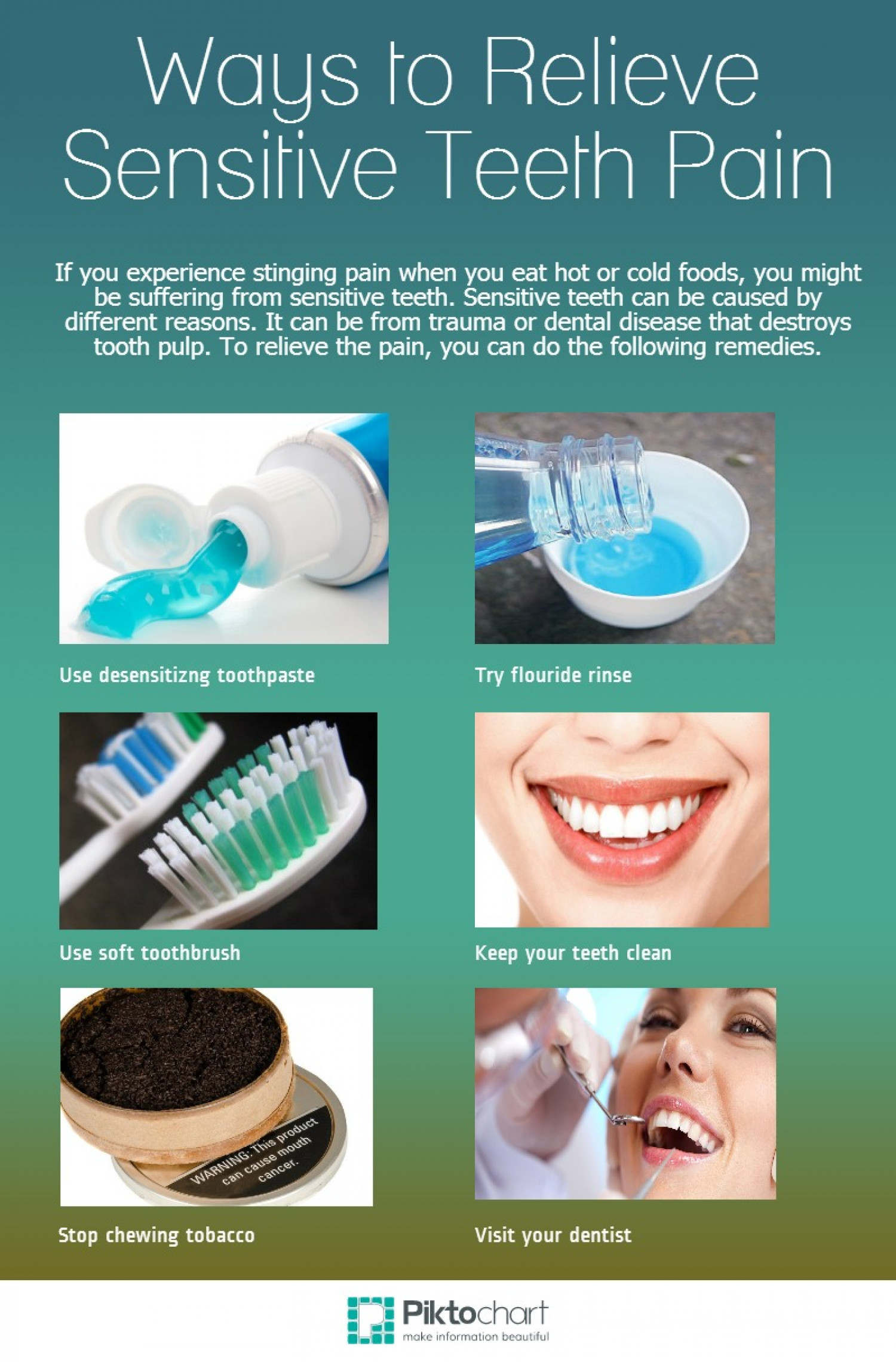 ways to relieve sensitive teeth pain | visual.ly