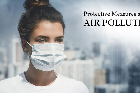 Ways to stay protected from Polluted Air Infographic