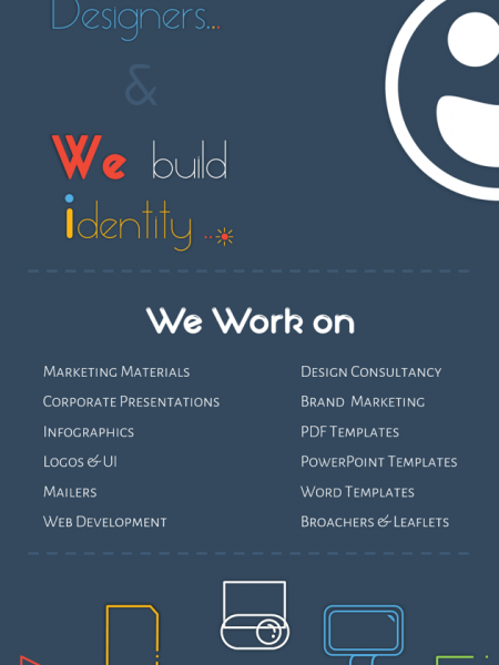 We are Designers & We create Identity Infographic