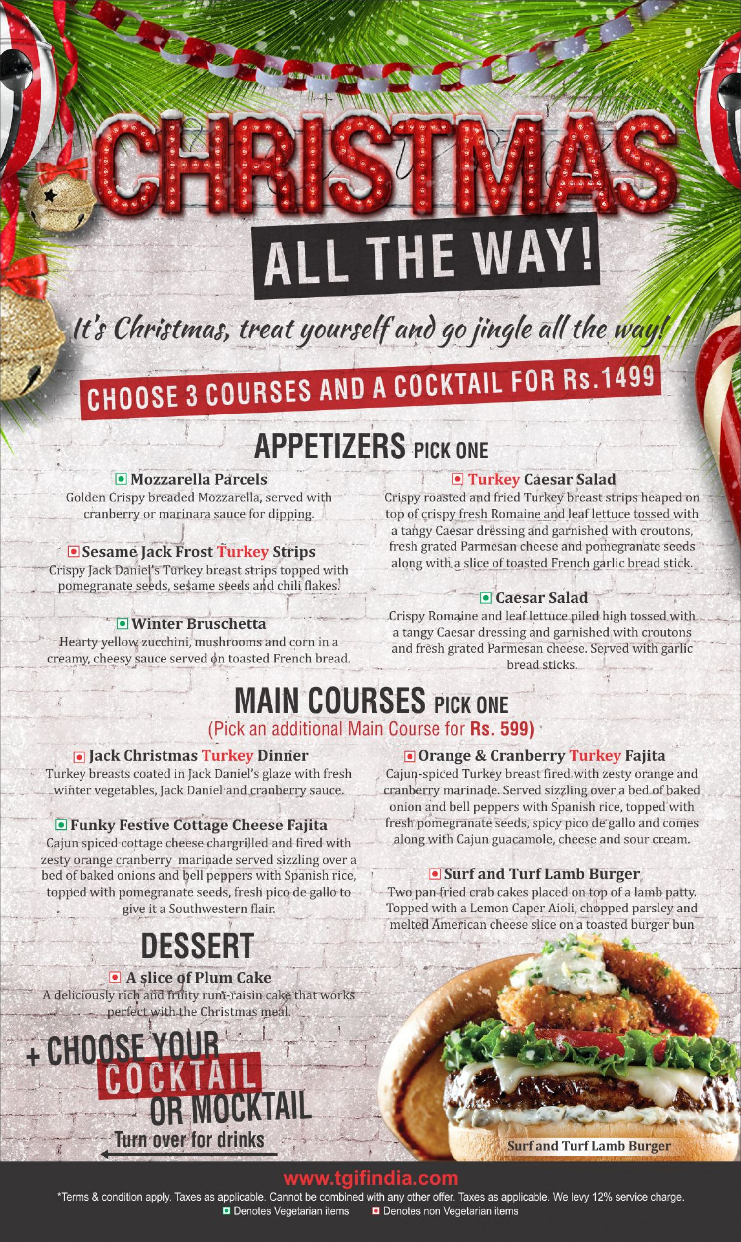 We Are Launching Our Christmas Menu Tgif Bistro Hospitality Pvt Ltd Infographic