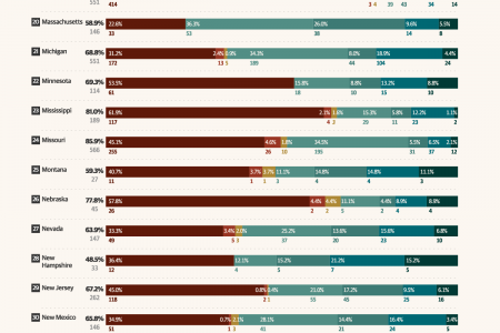 Weapons Most Commonly Used for Homicides in Each State Across the US Infographic