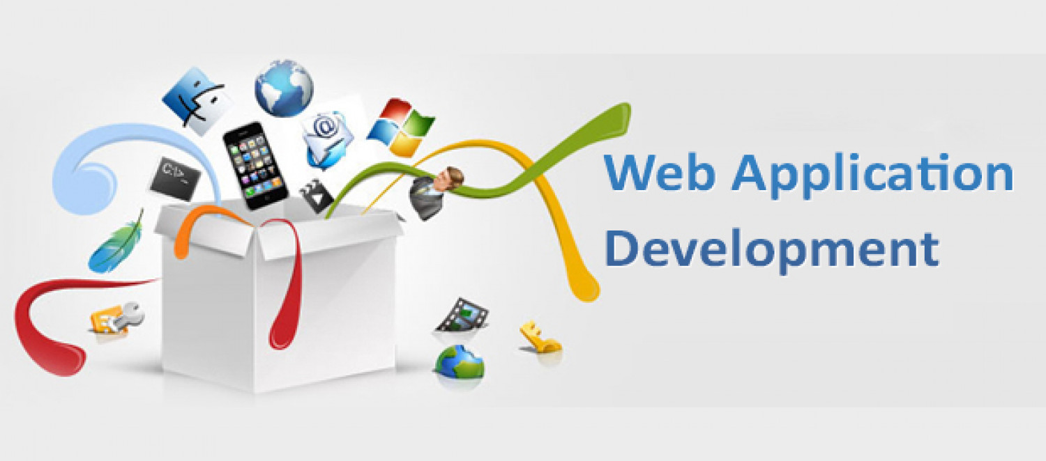Web application development Infographic