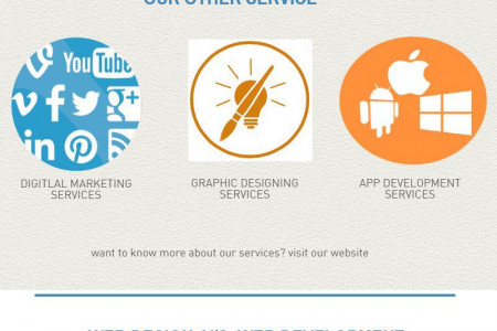 WEB DESIGN AND WEBSITE DEVELOPMENT COMPANY Infographic