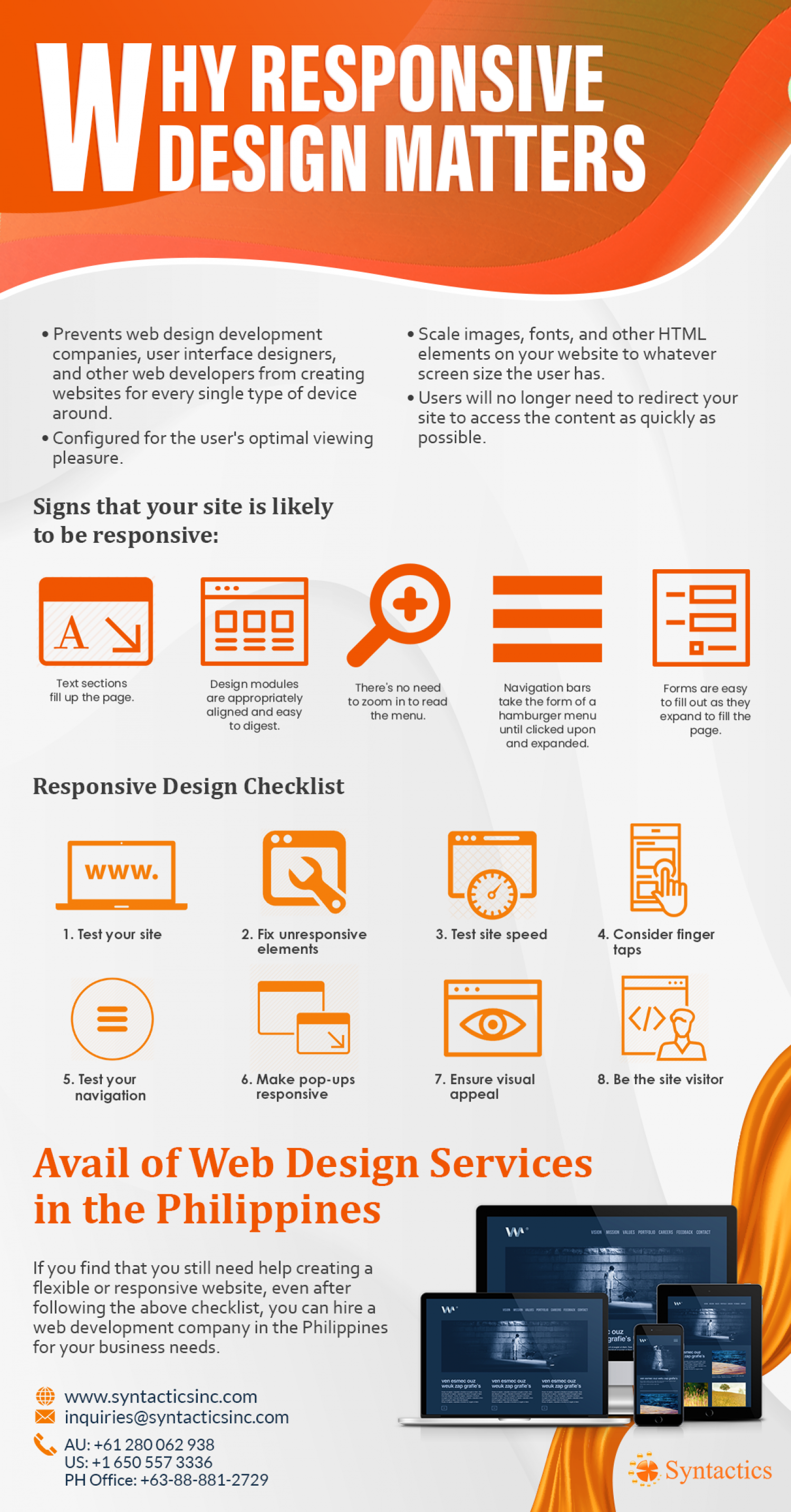Web Design Development Companies for Flexible Designs Infographic