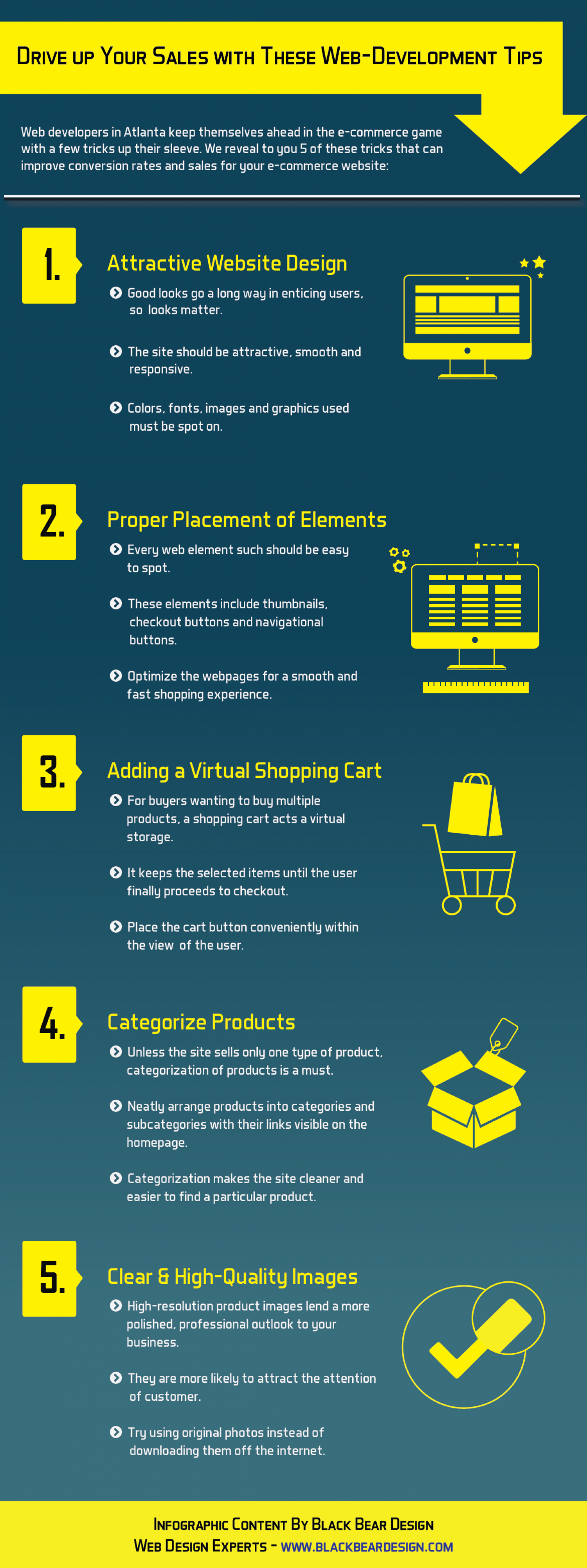 Web Development Tips to Drive Up Your Sales Infographic