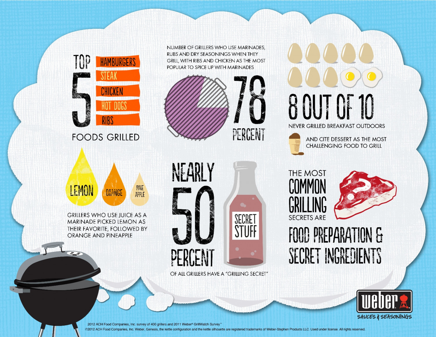 Weber Grilling Study Infographic
