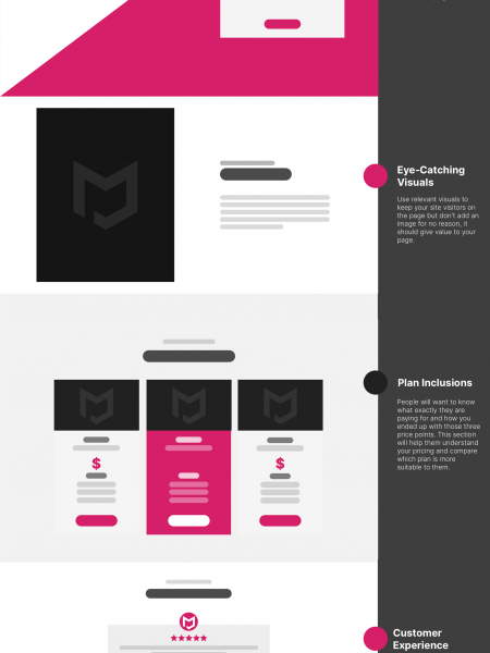 Website Design Anatomy: Designing a Pricing Page  Infographic