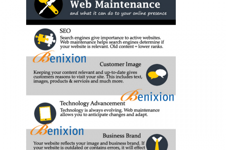 Website Maintenance Service Company in Delhi Infographic