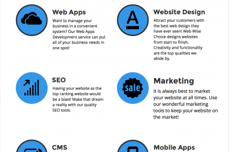 WebWiseChoice | Software Development, Website Design, SEO & Internet Marketing Infographic