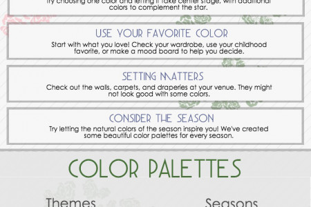 Wedding Color Palettes Infographic