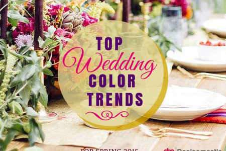 Wedding Color Trends For Spring 2015 Infographic