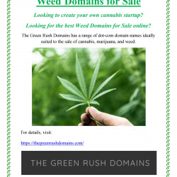 Weed Domains for Sale