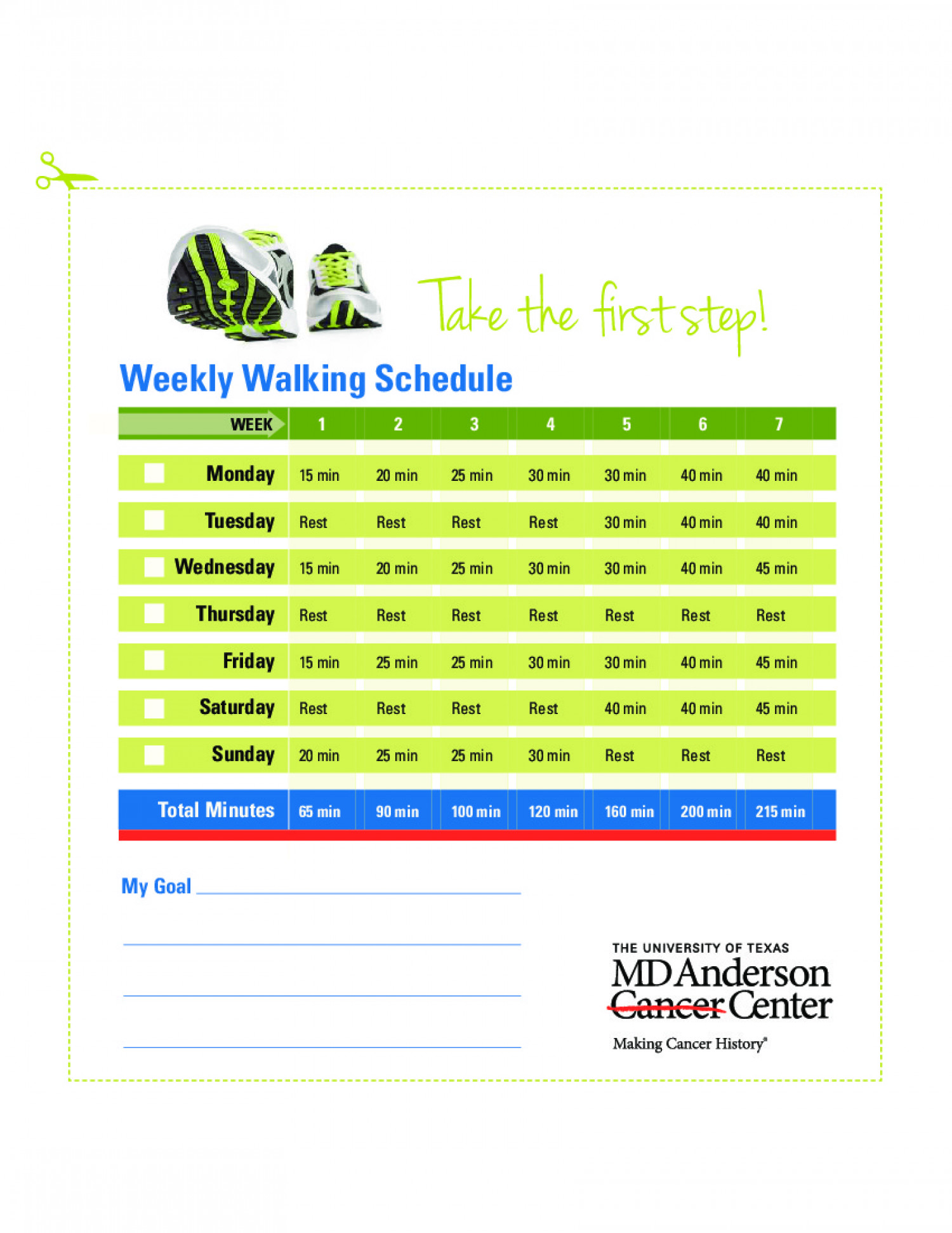 making a weekly schedule