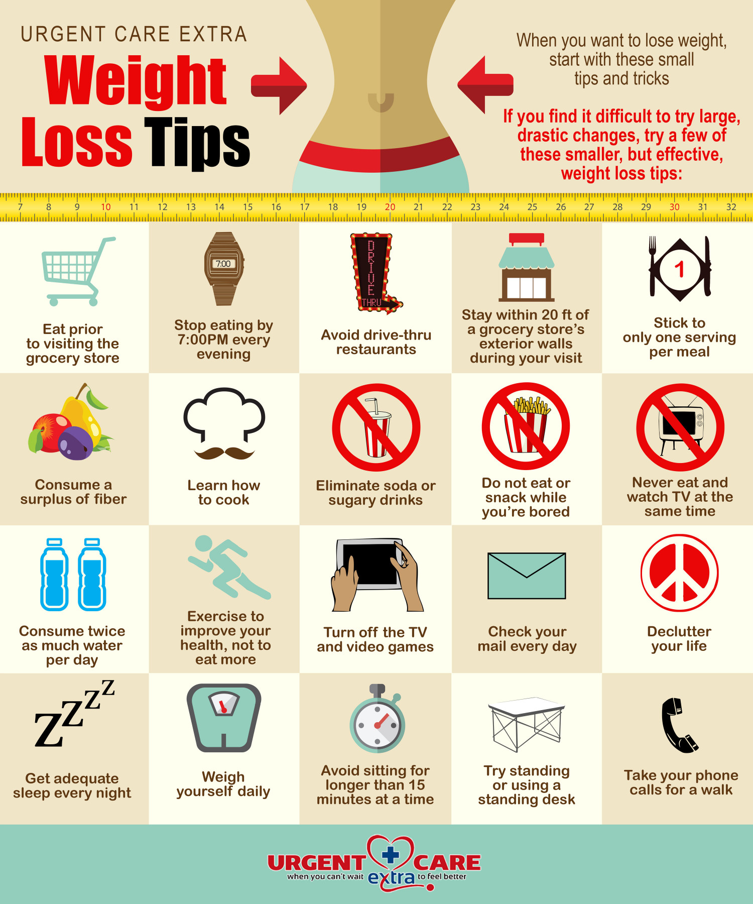 Weight Loss Tips Infographic