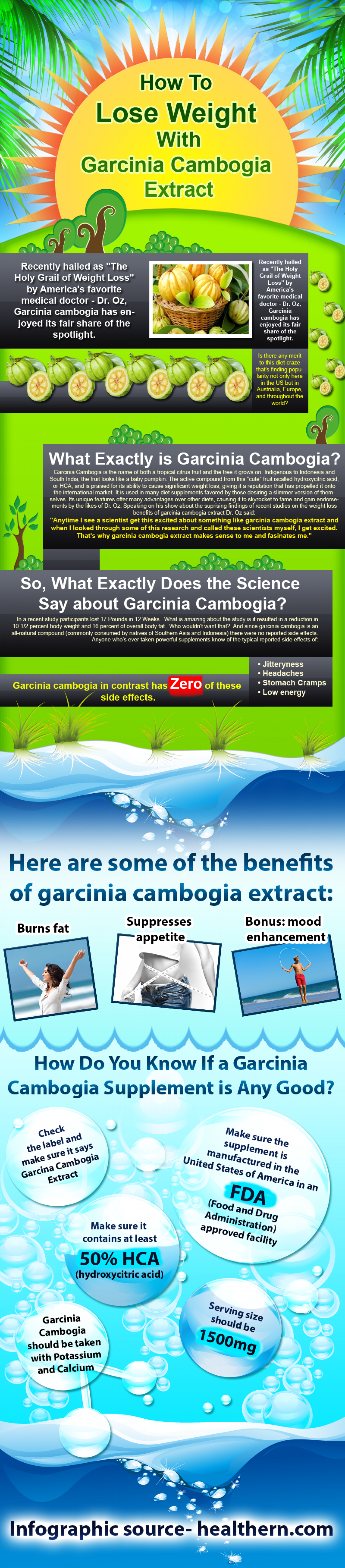 Weigth Loss by Gracinia Combogia Extract Infographic