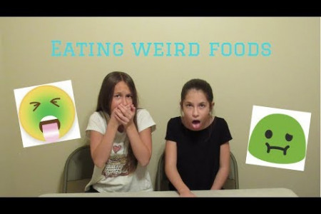 Weird Food Challenge Infographic