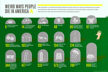 Weird Ways How People Die in America Infographic