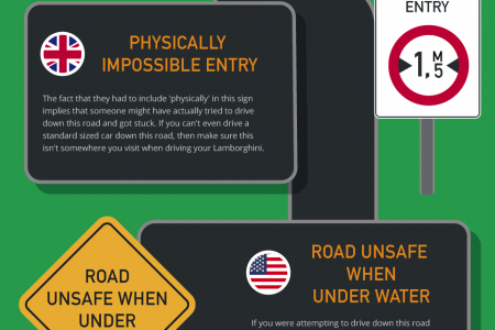 Weirdest Road Signs from Around the World Infographic