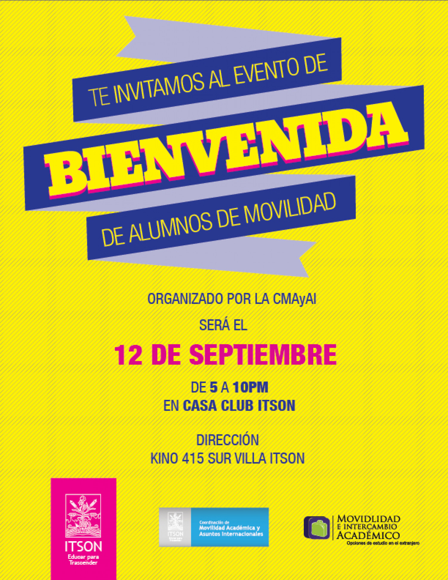 Welcome party invitation for the International Affairs office of – Spanish Party Invitations