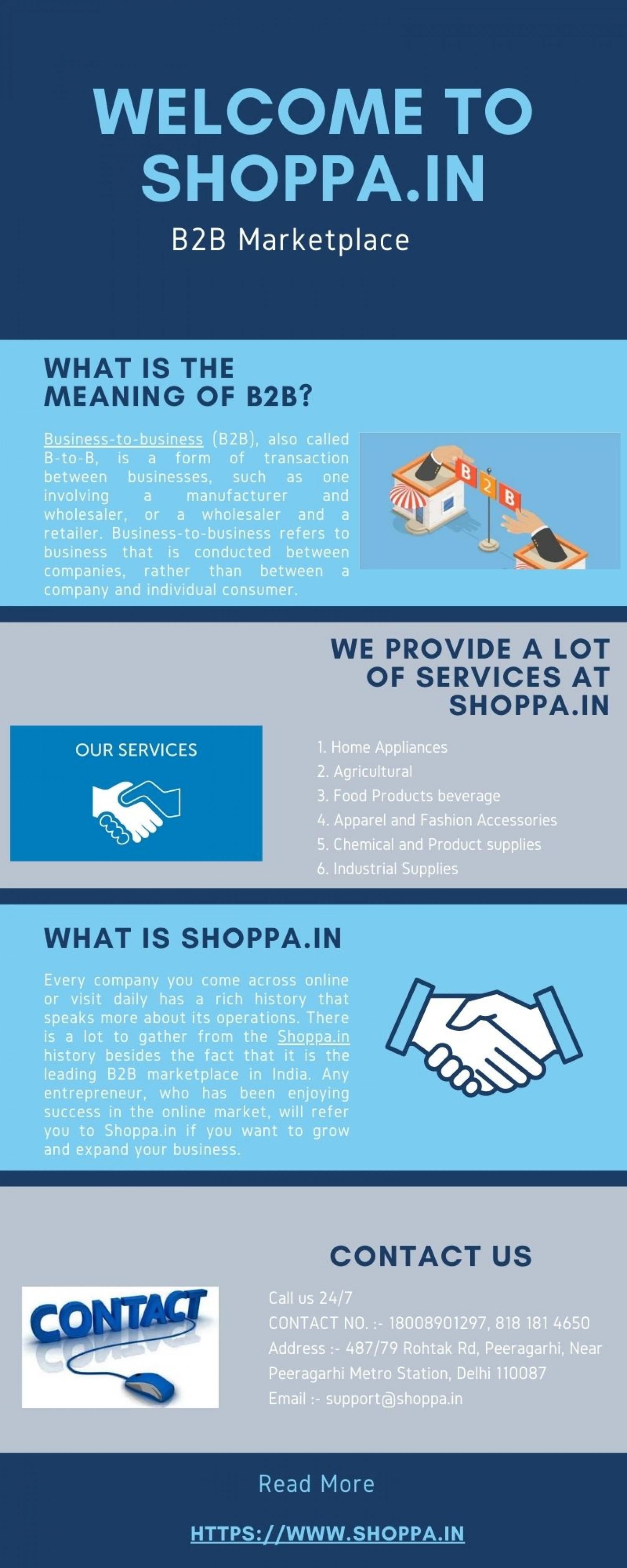 Welcome to shoppa.in India's largest online B2B marketplace for business products, Exporter, importer and services. Infographic