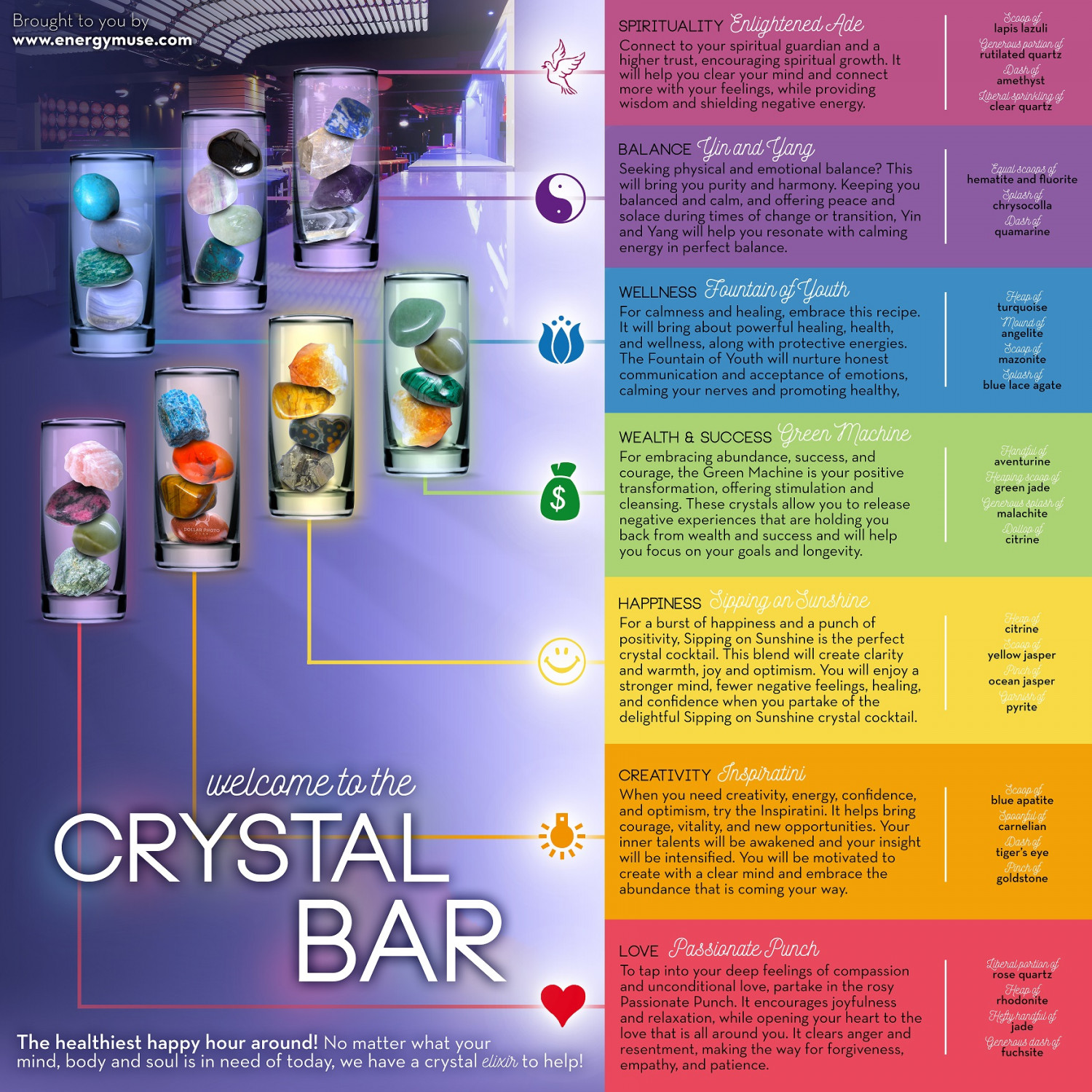 Welcome to the Crystal Bar! Infographic
