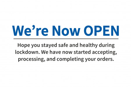 We're Now Open Infographic