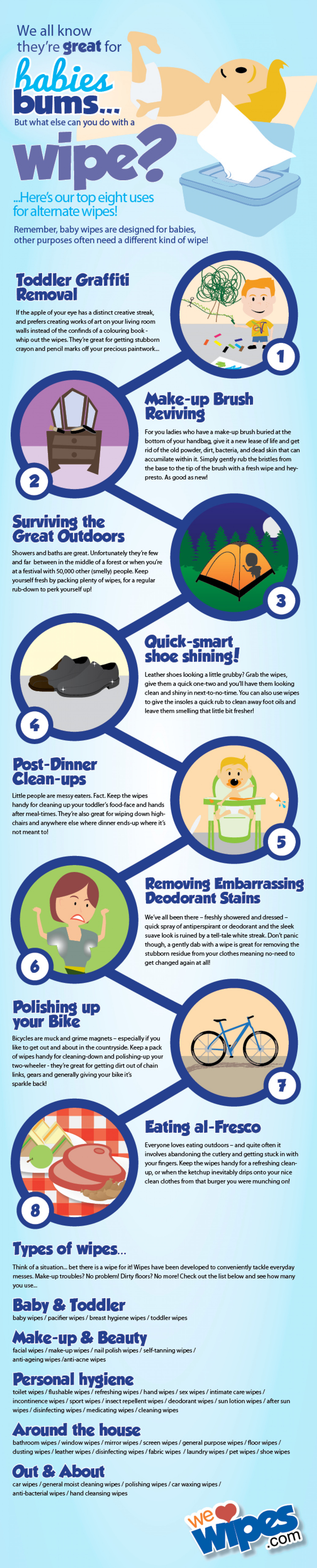 Wet Wipes... Not just for Babies Bums!  Infographic