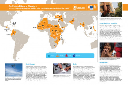WFP's response to Conflicts and Natural Disasters in 2013 Infographic