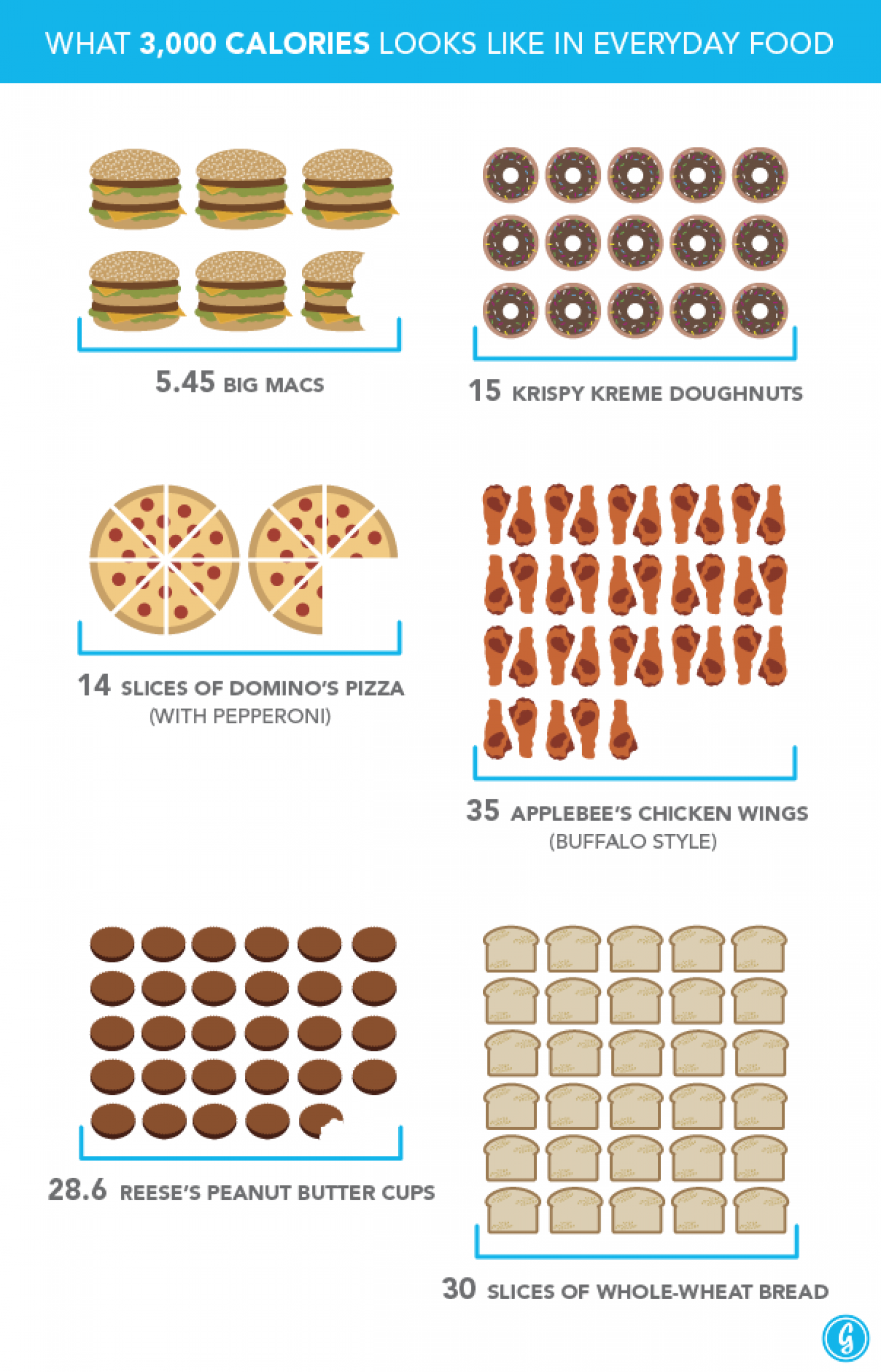 Thanksgiving Dinner: What 3,000 Calories Looks Like In Everyday Food Infographic