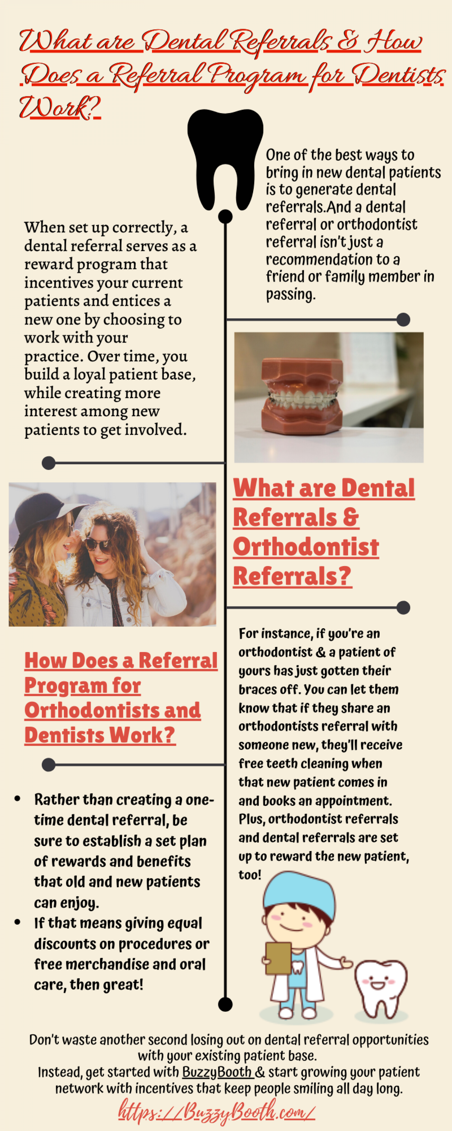 What are Dental Referrals and How Does a Referral Program for Dentists Work? Infographic