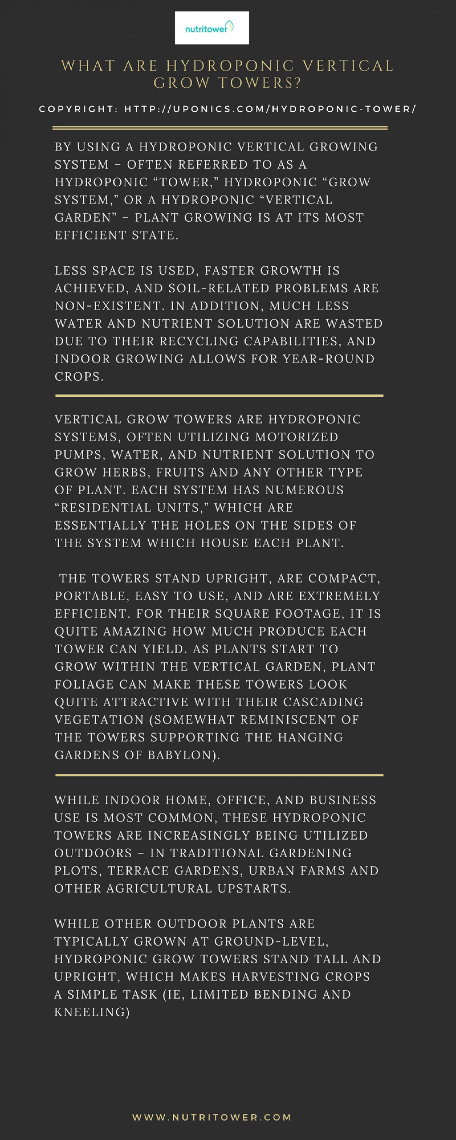 What are Hydroponic Vertical Grow Towers? Infographic