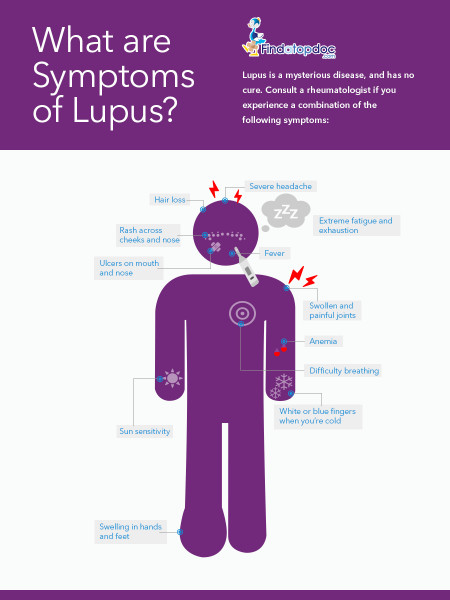What are the symptoms of Lupus? Infographic