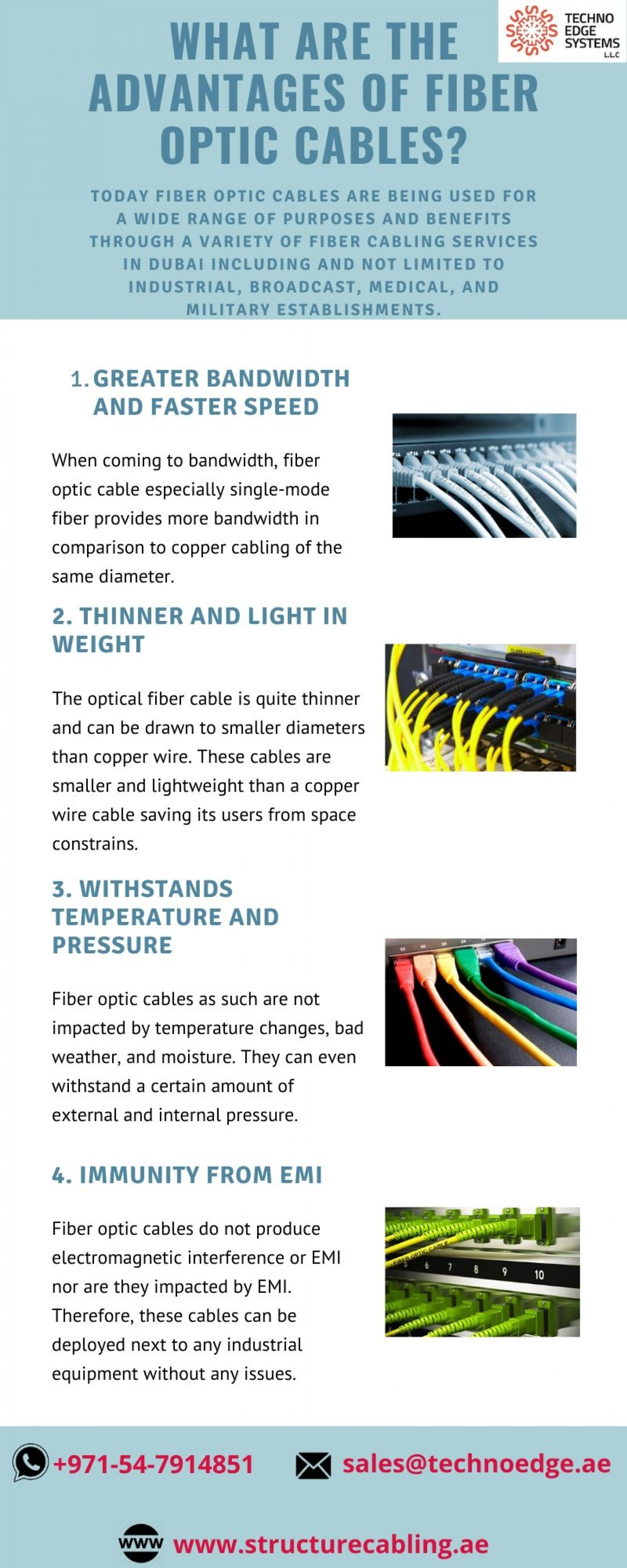 What are the Advantages of Fiber Optic Cables? Infographic