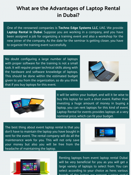 What are the Advantages of Laptop Rental in Dubai? Infographic
