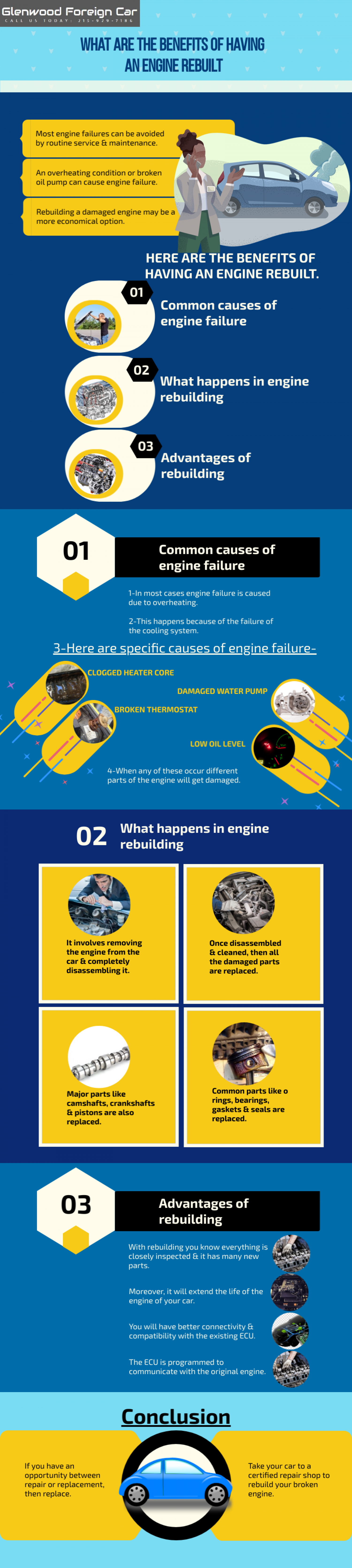 What are the Benefits of Having an Engine Rebuilt Infographic