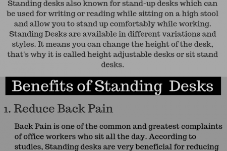 what are the benefits of using standing desks - Deskmate Infographic