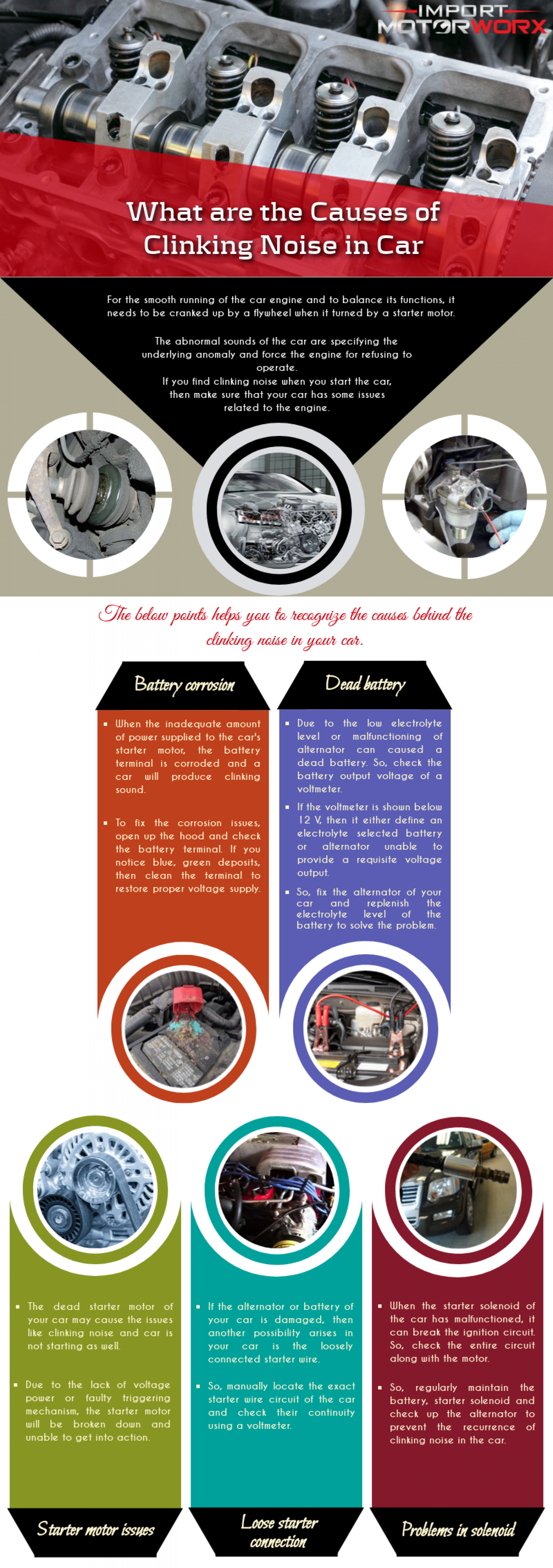 What are the Causes of Clinking Noise in Car Infographic
