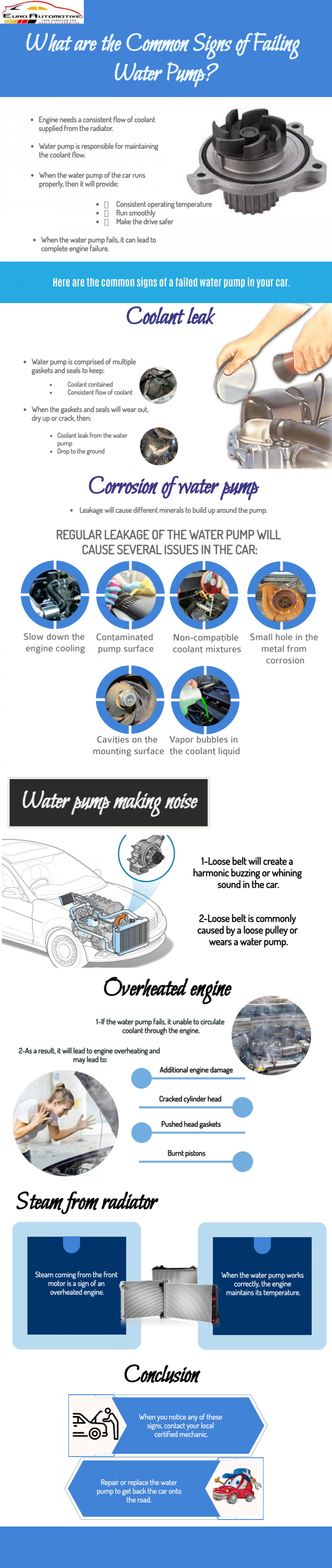 What are the Common Signs of Failing Water Pump Infographic