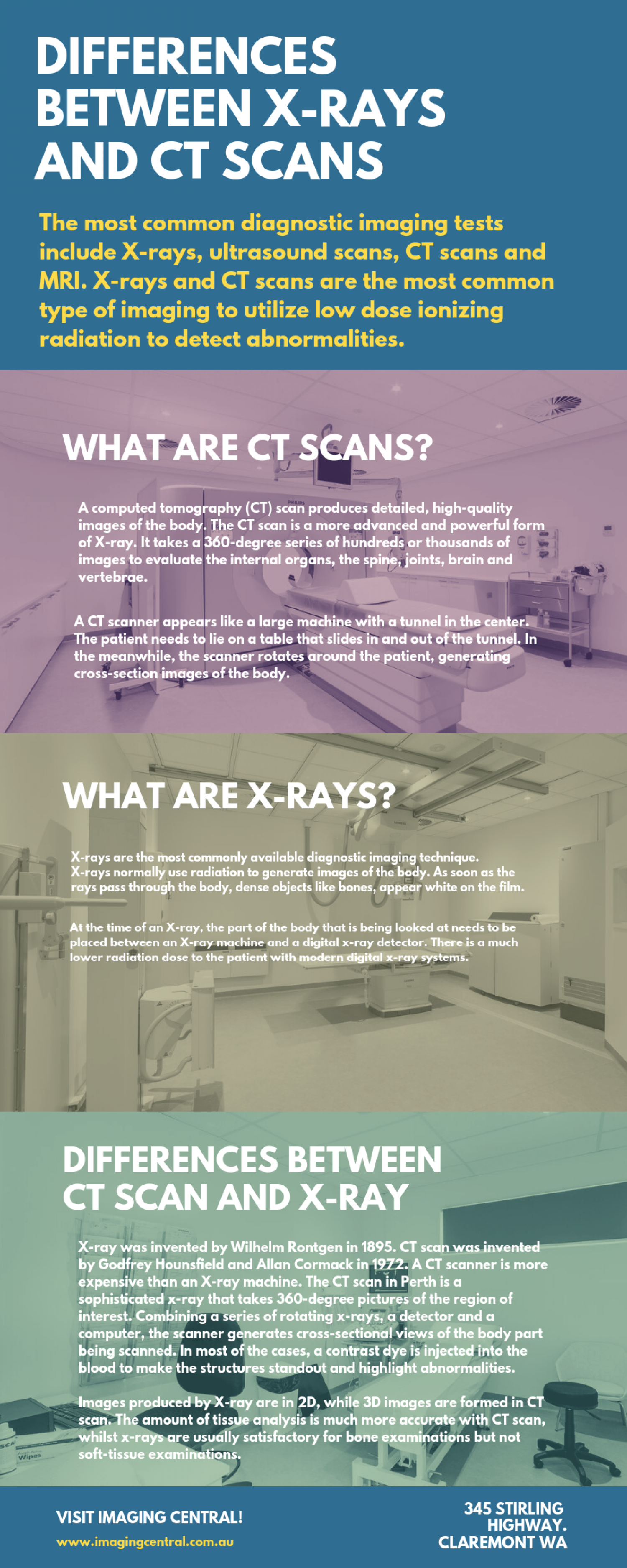 Differences between X-rays and CT scans