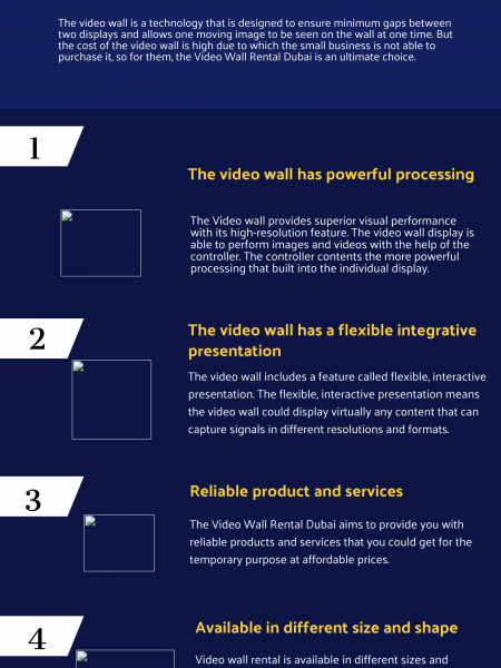 What are the Four Reasons to Go for Video Wall Rental Services in Dubai? Infographic