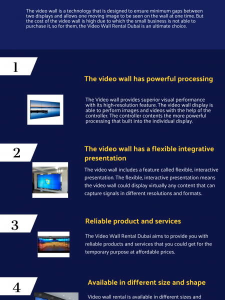 What are the Four Reasons to Go for Video Wall Rental Services? Infographic