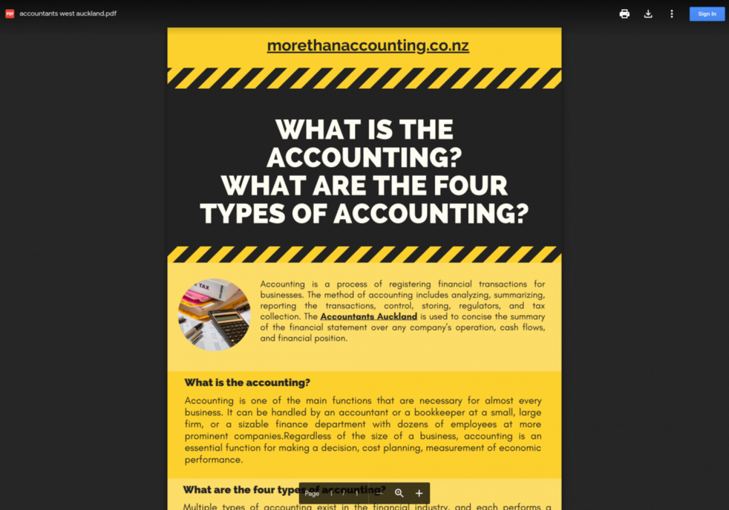 what are the four types of accounting? Infographic