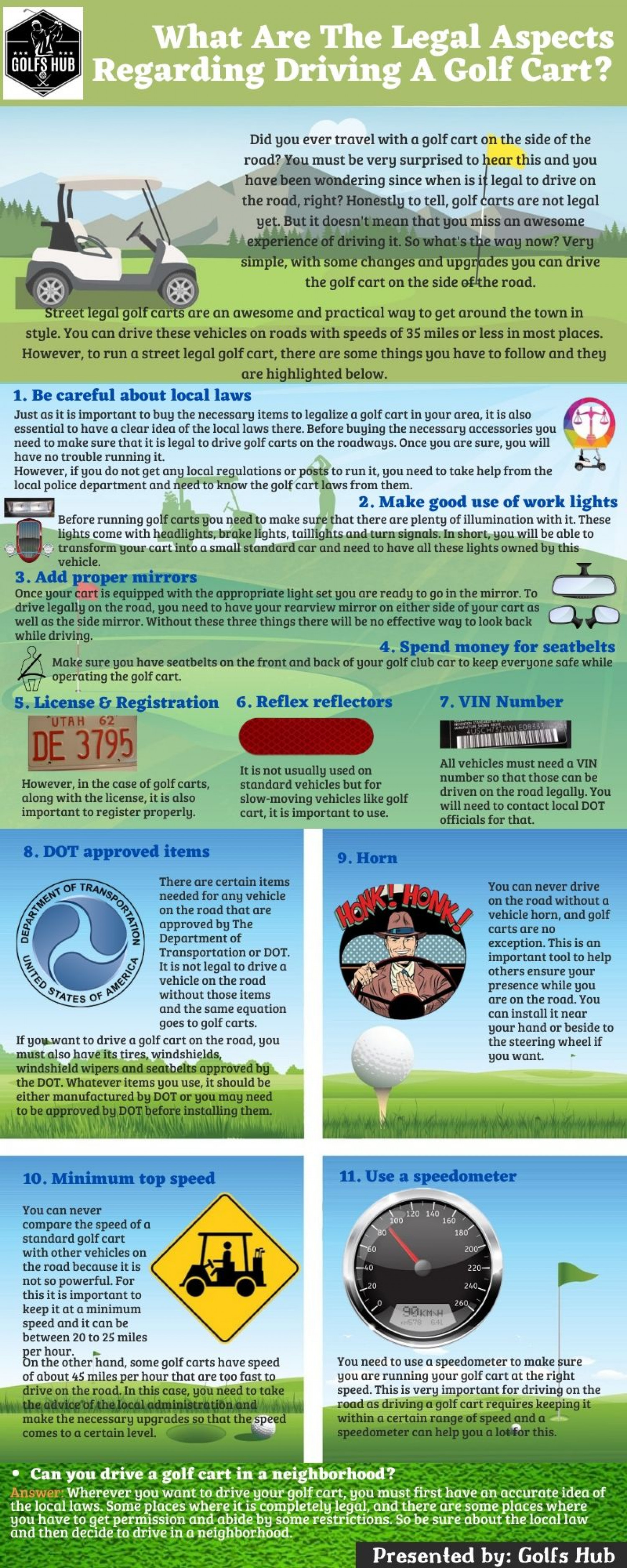 What Are The Legal Aspects Regarding Driving A Golf Cart? Infographic