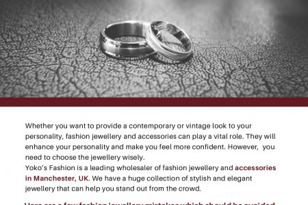 What are the most common fashion jewellery mistakes? Infographic
